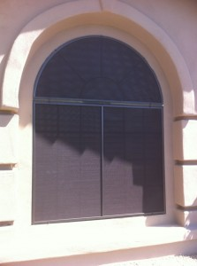 Arched Window After with New Sunscreens Solutions