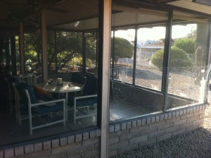 Inclosed Patio with no Outdoor Sun Screens