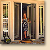 Clearview retractable door screens for Best rated retractable screen doors