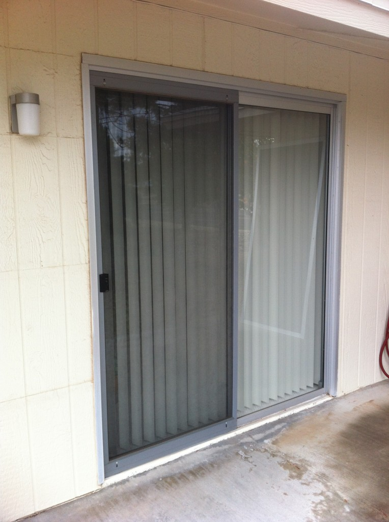 Patio Door Before Screens